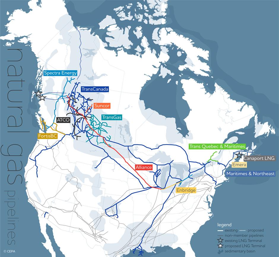 Pipelines  Natural Gas  Albertas Energy Heritage