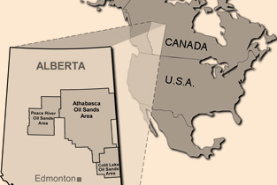 The Location of Oil Sands Oil Sands Albertas Energy Heritage